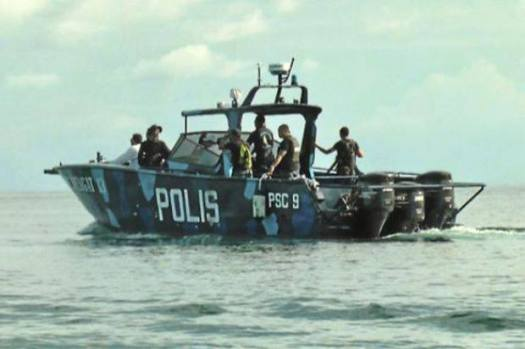 A Royal Malaysian Police's PSC-class fast interceptor similar to the one involved in the shootout near Mataking