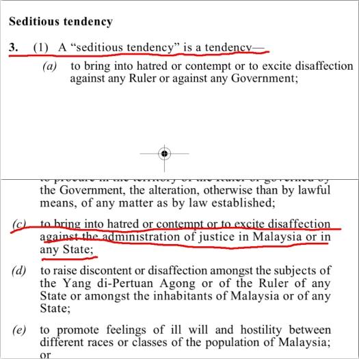 Zuraida Kamaruddin's press release smacks of seditious tendencies