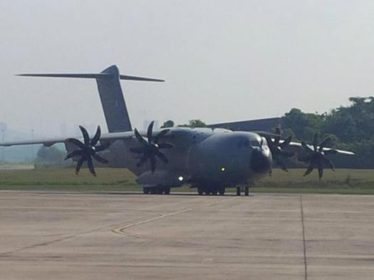 The first of four Airbus A400M Atlas arrived on the 14th March 2015 at the Subang Airbase