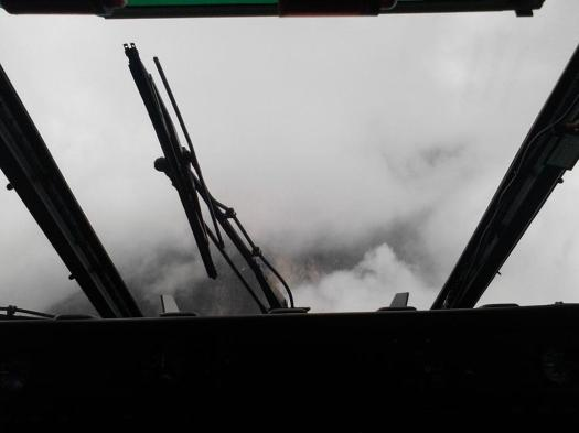 Visibility from a rescue chopper headed towards Mount Kinabalu - courtesy of @ayaqjagung on Twitter