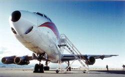 The DC-8 of the American International Airways that lost an engine - courtesy of University Corporation for Atmospheric Research