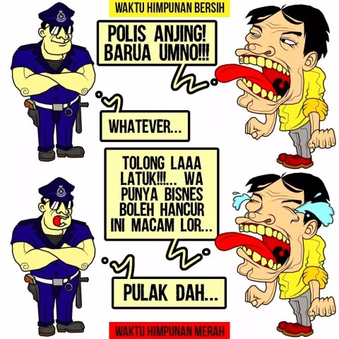 Hypocrites threw insults at the police when they rallied at where Malays conduct their business but cry for help when it is their business that is affected