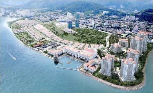 The Seri Tanjung condominiums built on a reclaimed land has blocked the viewoof the sea from Tanjung Tokong