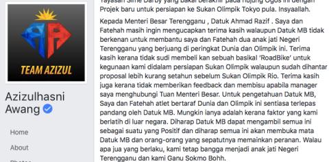 Taken from Azizulhasni Awang's Facebook page