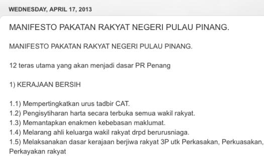 Pakatan Rakyat's Manifesto for the 13th General Elections http://mansorothman.blogspot.my/2013/04/manifesto-pakatan-rakyat-negeri-pulau.html