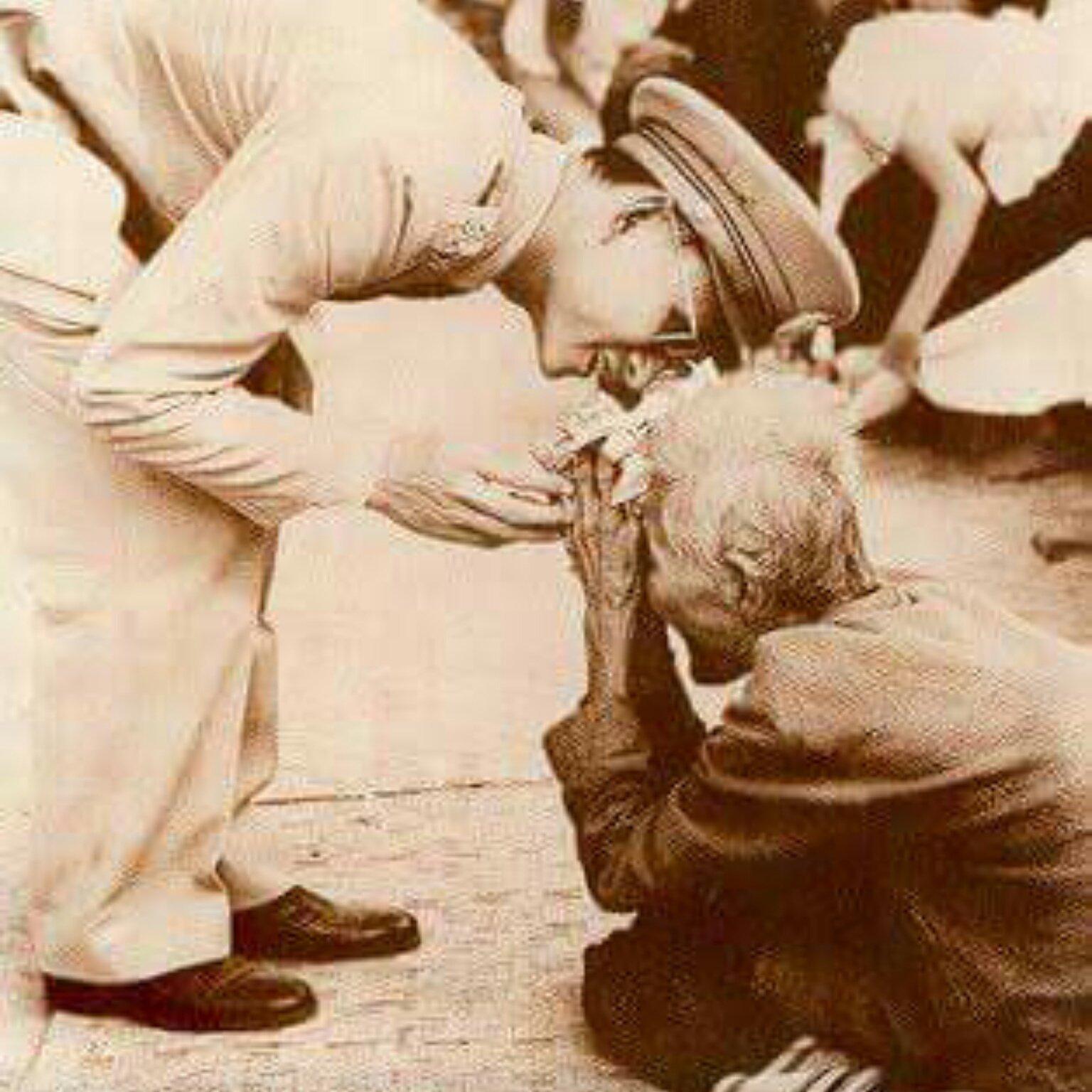 King Bhumibol Adulyadej meets a well-wisher