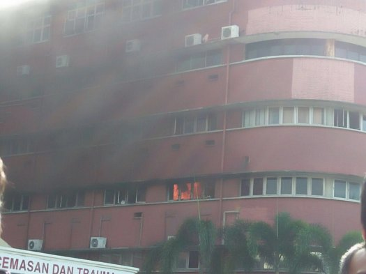 The ICU Ward on the 2nd floor of the HSA on fire. Six people lost their lives in the tragedy
