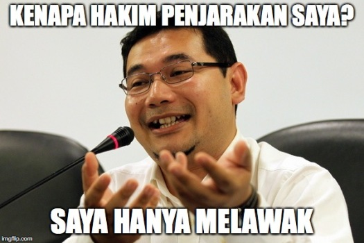 The joke is on Rafizi