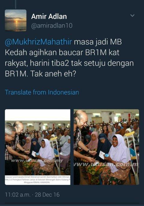Kalau BR1M bukan simbol kejayaan, kenapa tak serahkan kepada pegawai daerah sahaja untuk agihan?