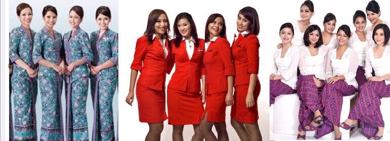 Cabin Crew Uniforms Malaysia Airlines Air Asia And Malindo