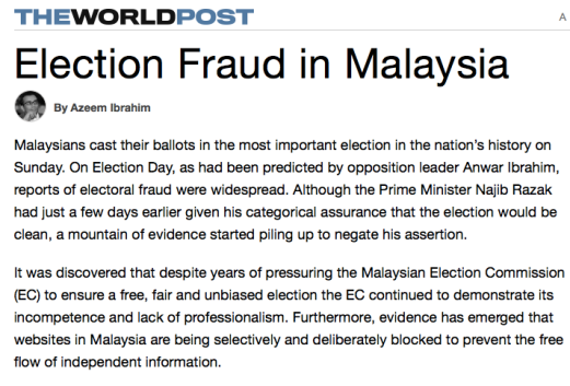Image result for Electoral Fraud in Malaysia