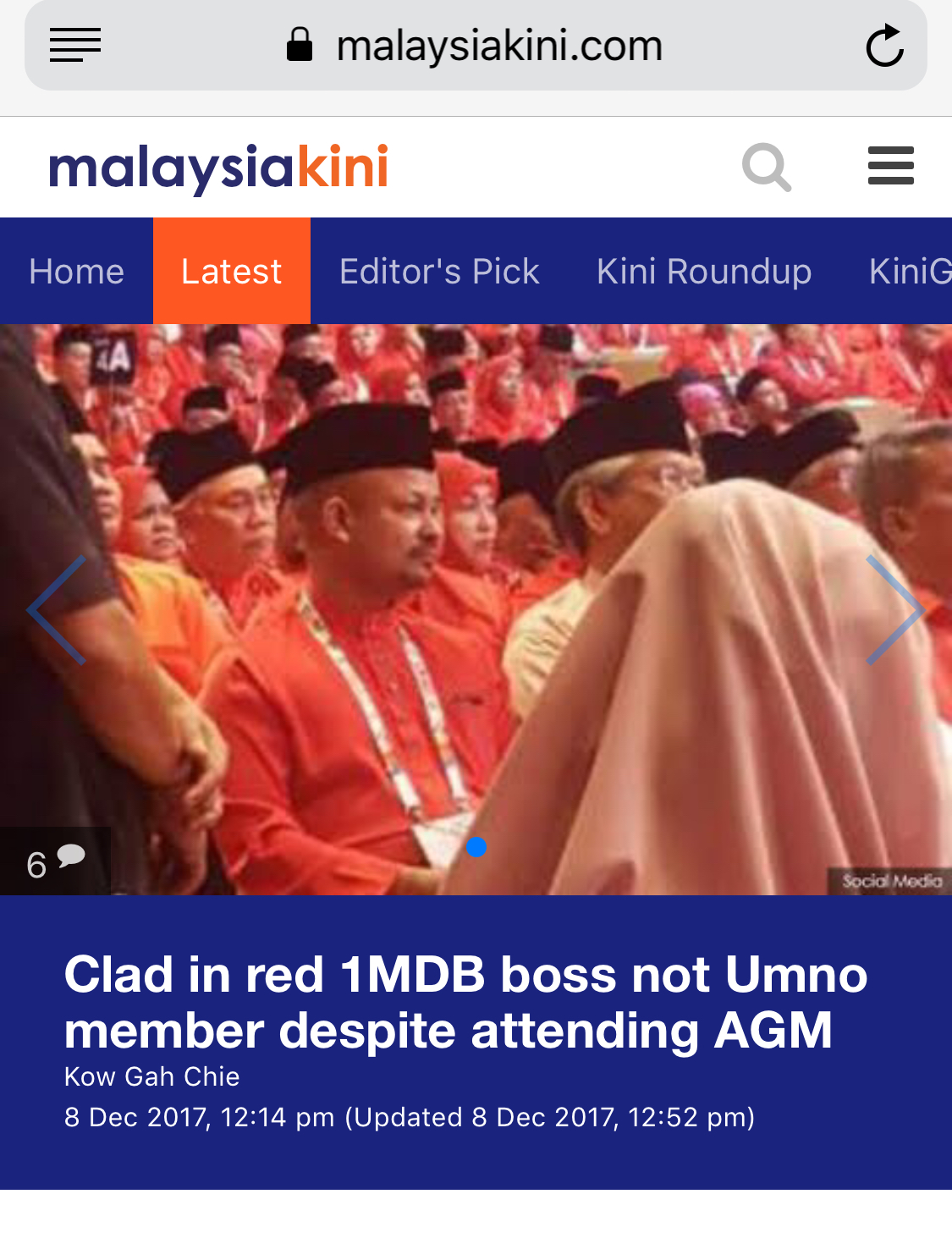 Arul Kanda was spotted at the opening of the UMNO General Assembly