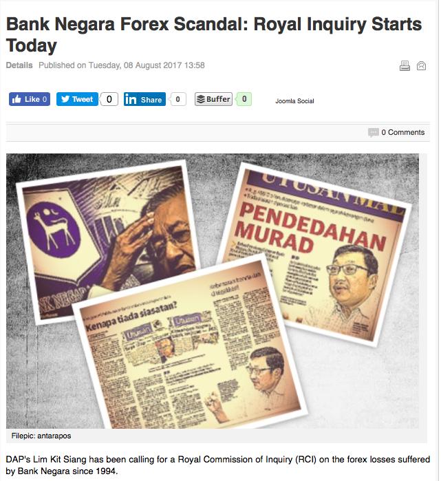 Bnm forex scandal
