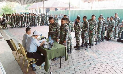 Image result for undi polis dan tentera